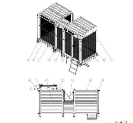 Platform set roof and wall