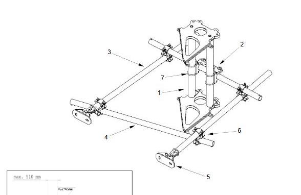 Vertically adjustable top anchor set