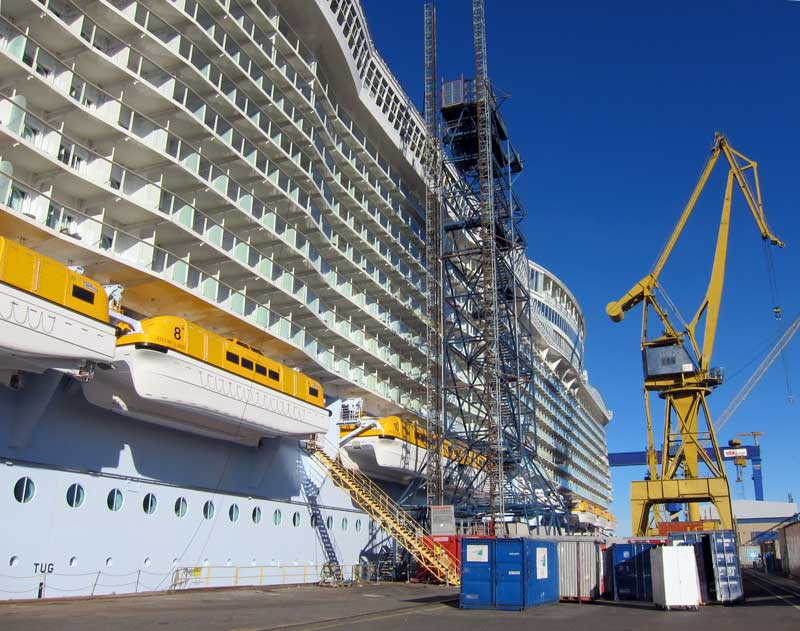 Allure of the seas at Perno shipyard